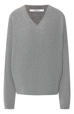 Шерстяной пуловер Givenchy. Цвет: серый