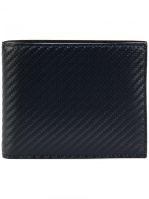 Плетеный бумажник Canali. Цвет: синий