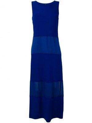 Длинное платье со вставками Pierantoniogaspari. Цвет: синий