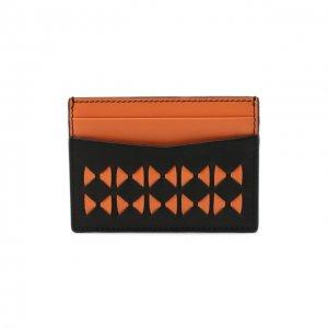 Кожаный футляр для кредитных карт Serapian. Цвет: оранжевый