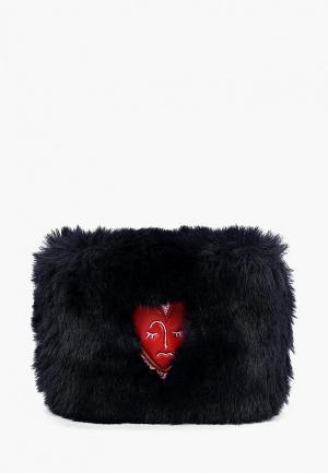 Кошелек Skinnydip Heart Fur. Цвет: синий
