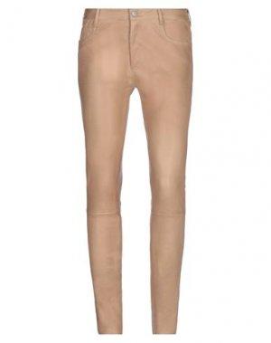 Повседневные брюки DROMe. Цвет: верблюжий