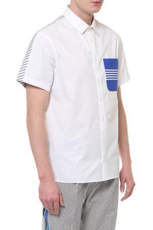 Рубашка с коротким рукавом Tommy Hilfiger. Цвет: белый