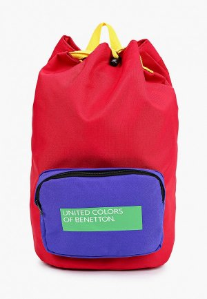 Рюкзак United Colors of Benetton. Цвет: красный