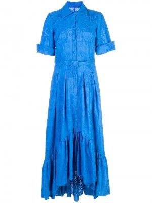 Платье с перфорацией Badgley Mischka