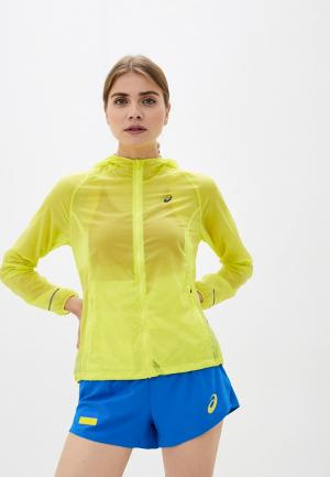 Ветровка ASICS PACKABLE JACKET. Цвет: желтый
