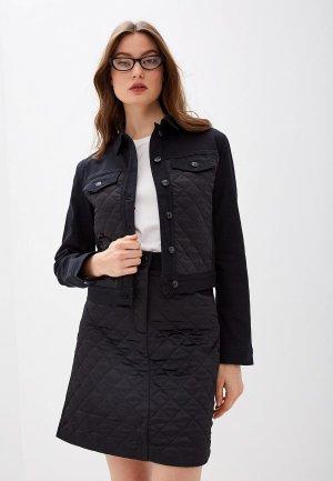 Куртка джинсовая Escada Sport Batanja. Цвет: черный