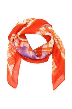 Платок F.FRANTELLI. Цвет: оранжевый, фиолетовый