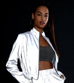 Спортивная куртка со светоотражающими вставками -Серебряный Daisy Street