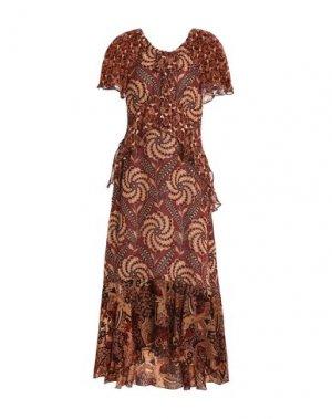 Длинное платье ANNA SUI. Цвет: коричневый