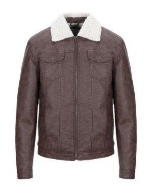Куртка CENSURED. Цвет: коричневый