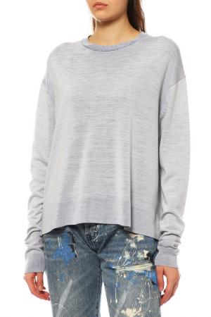 Пуловер Acne Studios. Цвет: off white / blue