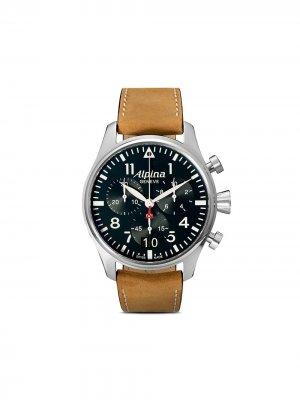 Наручные часы Startimer Pilot Big Date 44 мм Alpina. Цвет: blue