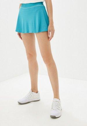 Юбка-шорты Nike COURT DRI-FIT WOMENS TENNIS SKIRT. Цвет: голубой