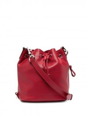 Сумка-ведро с ремнем на плечо Longchamp. Цвет: красный