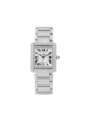 Наручные часы Tank Francaise pre-owned 28 мм 2005-го года Cartier. Цвет: серебристый