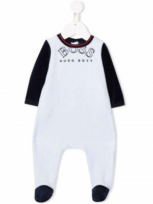 Пижама в стиле колор-блок BOSS Kidswear. Цвет: синий