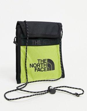 Зеленая сумка-кошелек на шею Bozer III-Желтый The North Face