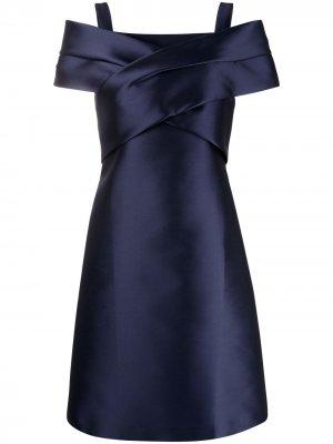 Платье ампирного силуэта с короткими рукавами Alberta Ferretti. Цвет: синий