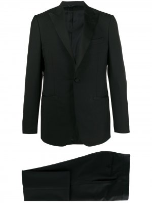 Delloglio костюм узкого кроя со смокингом Dell'oglio. Цвет: черный