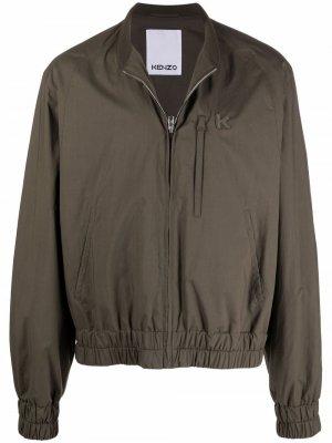 Легкая куртка с логотипом Kenzo. Цвет: зеленый