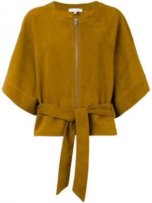 Кожаная куртка-кимоно Iro. Цвет: телесный