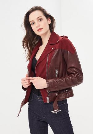 Куртка кожаная Diesel. Цвет: коричневый
