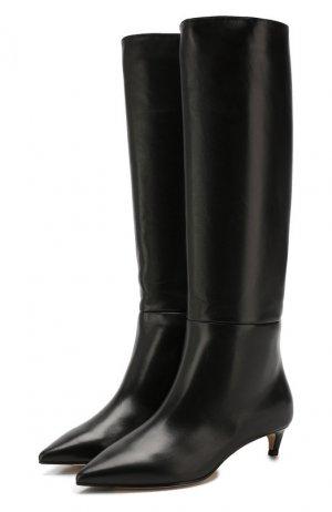 Кожаные сапоги Maxima 35 Jimmy Choo. Цвет: черный
