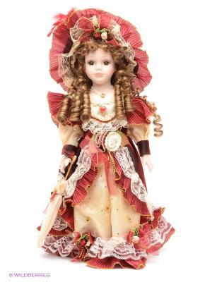 Кукла фарфоровая Кармен Angel Collection. Цвет: бордовый, кремовый