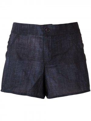 Джинсовые шорты Amir Slama. Цвет: синий