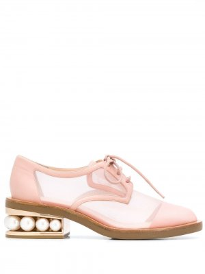 Дерби Casati с сетчатыми вставками Nicholas Kirkwood. Цвет: розовый