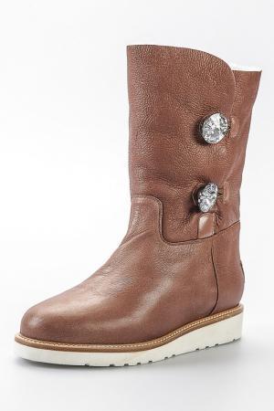 Half boots Nando Muzi. Цвет: brown, silver and light grey