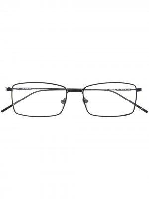 Очки в прямоугольной оправе с логотипом Calvin Klein. Цвет: черный
