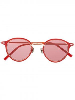 Солнцезащитные очки в круглой оправе Eyevan7285. Цвет: красный