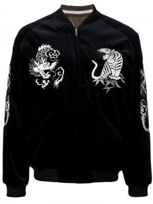 Куртка-бомбер TAILOR TOYO × GOLD ARK STANDARD / Enterprise. Цвет: чёрный