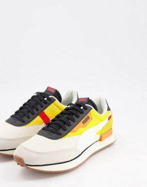 Желто-белые кроссовки Future Rider-Желтый Puma