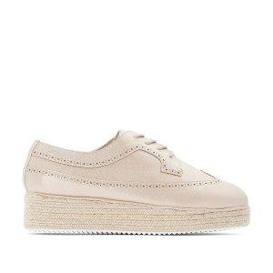Ботинки-дерби La Redoute. Цвет: розовый