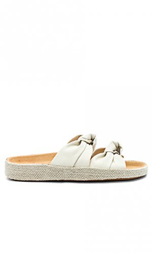 Шлепанцы knotted summer Soludos. Цвет: ivory