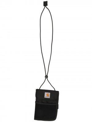 Кошелек с ремешком и нашивкой-логотипом Carhartt WIP. Цвет: черный