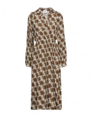 Платье миди ALYSI. Цвет: коричневый