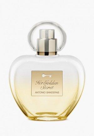 Туалетная вода Antonio Banderas Golden Secret Woman, 50 мл. Цвет: прозрачный
