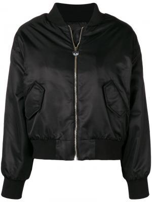 Куртка-бомбер с принтом глаза Chiara Ferragni. Цвет: черный