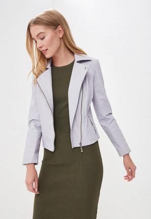 Куртка кожаная Grafinia MP002XW15IG9. Цвет: фиолетовый