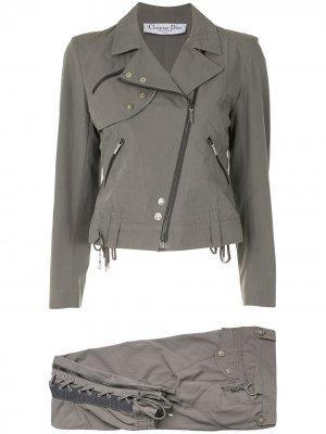 Костюм с брюками pre-owned Christian Dior. Цвет: серый