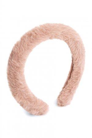 Ободок пудрово-розового цвета Stirina Bonpoint. Цвет: розовый