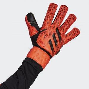 Вратарские перчатки Predator Fingersave Match Performance adidas. Цвет: красный