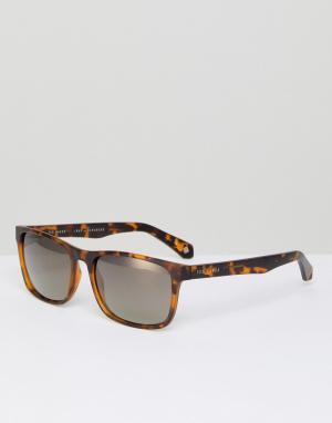 Квадратные солнцезащитные очки в черепаховой оправе tb1493 1 Ted Baker. Цвет: коричневый