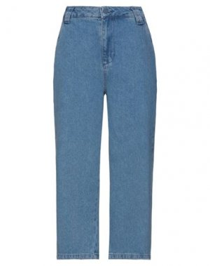 Джинсовые брюки-капри LAZY OAF. Цвет: синий