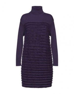 Короткое платье ANDREA TURCHI. Цвет: фиолетовый