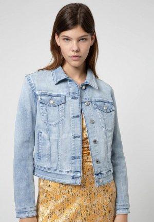 Куртка джинсовая Hugo. Цвет: голубой